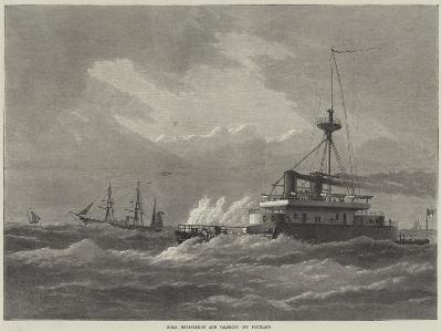 HMS Devastation and Valorous Off Portland--Giclee Print