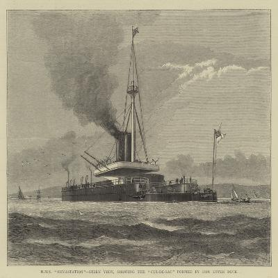 HMS Devastation, Stern View, Showing the Cul-De-Sac Formed by Her Upper Deck--Giclee Print