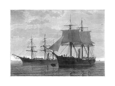 HMS Discovery and HMS Alert, British Arctic Expedition, 1875- Wells-Giclee Print