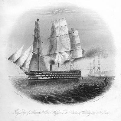 HMS Duke of Wellington, 1857-DJ Pound-Giclee Print