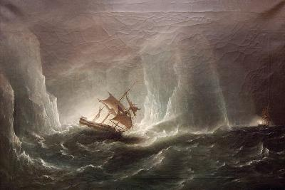 Hms Erebus and Terro, Escape from the Bergs, 13 March 1842, 1863-Richard Bridges Beechey-Giclee Print