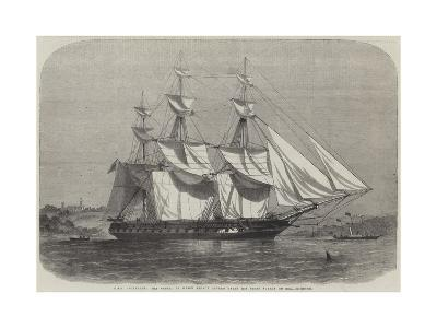 HMS Euryalus, the Vessel in Which Prince Alfred Takes His First Voyage to Sea-Edwin Weedon-Giclee Print