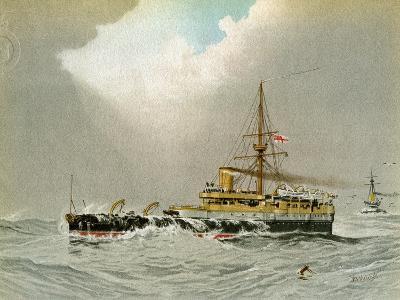 HMS Hero, Royal Navy 2nd Class Battleship, C1890-C1893-William Frederick Mitchell-Giclee Print