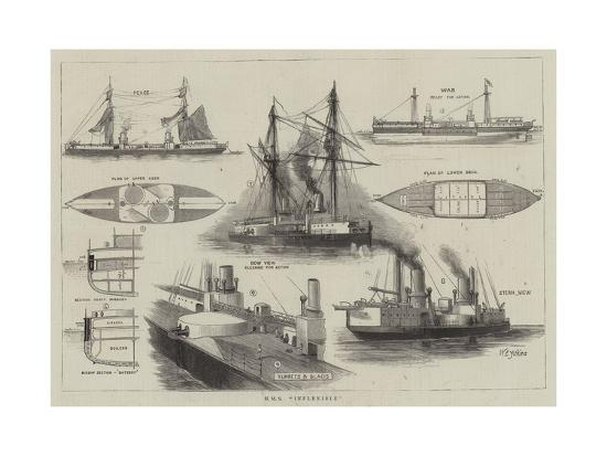 HMS Inflexible-William Edward Atkins-Giclee Print