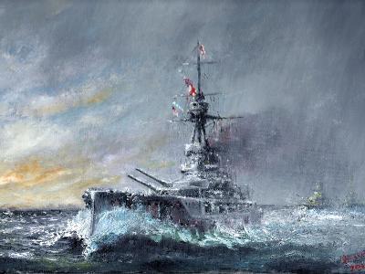 HMS Iron Duke, 'Equal Speed Charlie London' Jutland 1916, 2015-Vincent Alexander Booth-Giclee Print