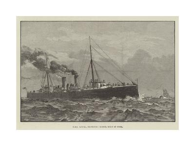 HMS Latona, Protected Cruiser, Built of Steel--Giclee Print