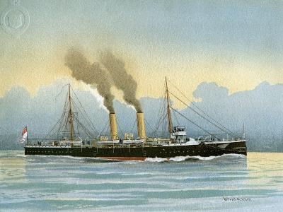 HMS Latona, Royal Navy 2nd Class Cruiser, C1890-C1893-William Frederick Mitchell-Giclee Print