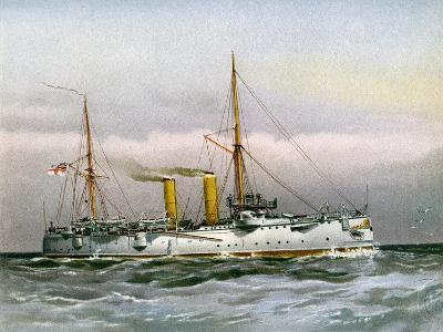 HMS Magicienne, Royal Navy 2nd Class Cruiser, C1890-C1893--Giclee Print
