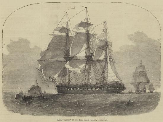 HMS Nankin, 50 Guns, Honourable Keith Stewart, Commander-Edwin Weedon-Giclee Print