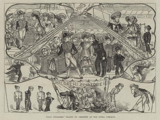 HMS Pinafore, Played by Children at the Opera Comique-George Cruikshank-Giclee Print