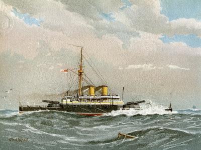 HMS Rodney, Royal Navy 1st Class Battleship, C1890-C1893-William Frederick Mitchell-Giclee Print