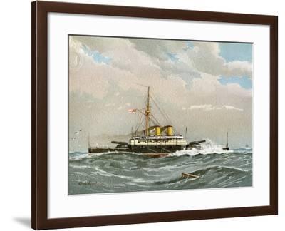 HMS Rodney, Royal Navy 1st Class Battleship, C1890-C1893-William Frederick Mitchell-Framed Giclee Print