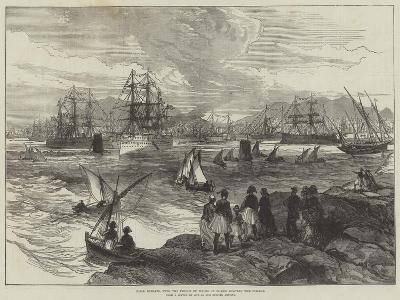 HMS Serapis, with the Prince of Wales on Board, Leaving the Piraeus--Giclee Print