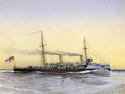 HMS Speedwell, Royal Navy Torpedo Gunboat, 1892-William Frederick Mitchell-Giclee Print
