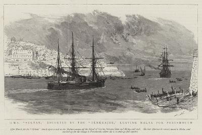 HMS Sultan, Escorted by the Temeraire, Leaving Malta for Portsmouth-Joseph Nash-Giclee Print