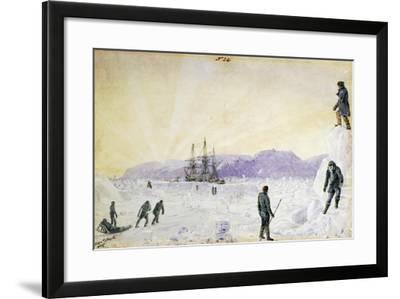 Hms Terror in Ice Near Island of Southampton by William Smyth, January 1837, Canada--Framed Giclee Print