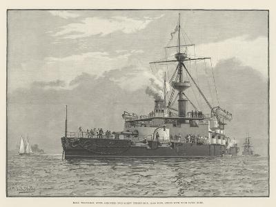 HMS Trafalgar, Steel Armoured Twin-Screw Turret-Ship, 11,940 Tons, Armed with Four 67-Ton Guns--Giclee Print