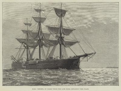 HMS Triumph, on Board Which the Late Fatal Explosion Took Place--Giclee Print