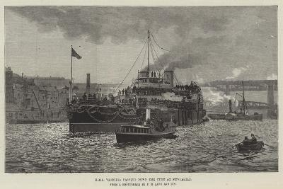 HMS Victoria Passing Down the Tyne at Newcastle--Giclee Print