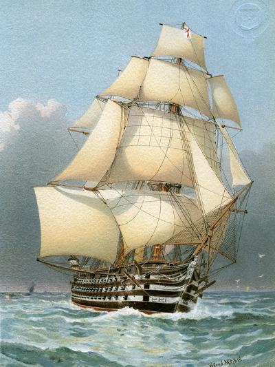 HMS Victoria, Royal Navy 121 Gun Warship, C1859 (C1890-C189)-William Frederick Mitchell-Giclee Print