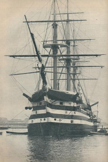 'HMS Victory before she was removed to dry dock in 1922', 1936-Unknown-Photographic Print