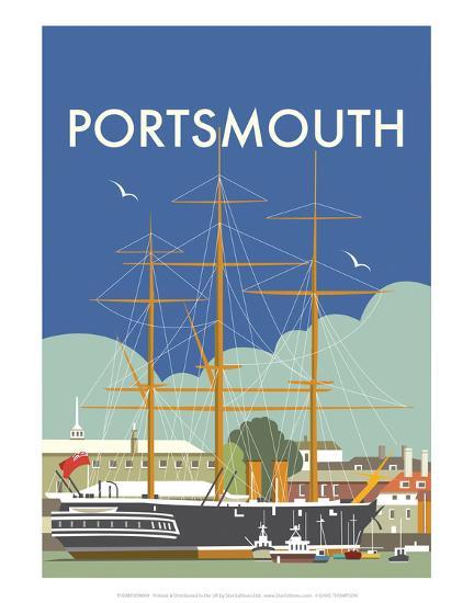 HMS Victory (Portsmouth) - Dave Thompson Contemporary Travel Print-Dave Thompson-Art Print
