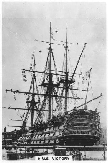 HMS Victory, Portsmouth, Hampshire, 1936--Giclee Print