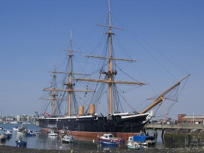 HMS Warrior, 1st Armour-Plated Iron-Hulled Warship, Built for Royal Navy 1860, Portsmouth, England-Ethel Davies-Photographic Print