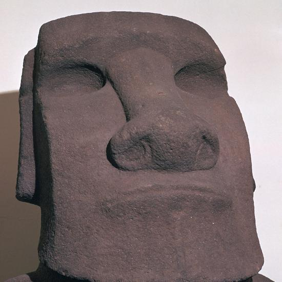Hoa Hakananai'a, from Orongo, Easter Island (Rapa Nui), Polynesia, c1000-Unknown-Giclee Print
