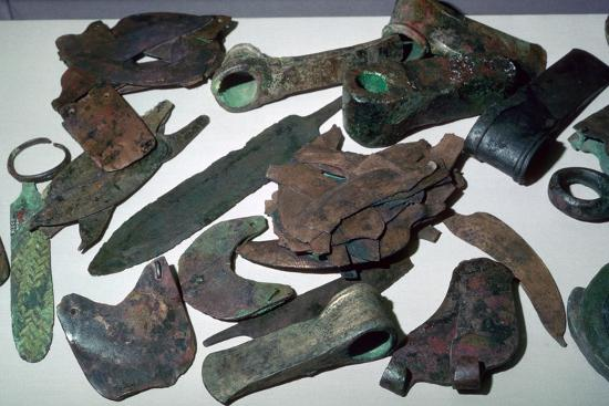 Hoard of Babylonian agricultural tools. Artist: Unknown-Unknown-Giclee Print
