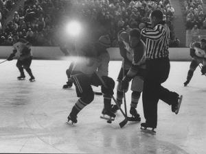 Hockey Game During Winter Olympics