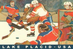 Hockey Game in Lake Placid, New York