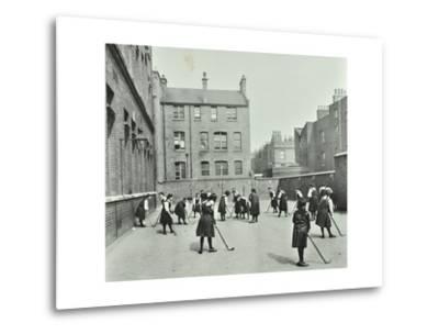 Hockey Game, Myrdle Street Girls School, Stepney, London, 1908