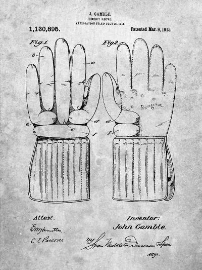 Hockey Glove Patent-Cole Borders-Art Print
