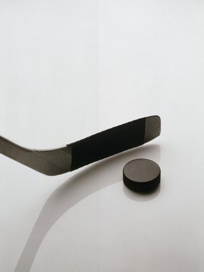 Hockey Stick and Puck-Howard Sokol-Photographic Print
