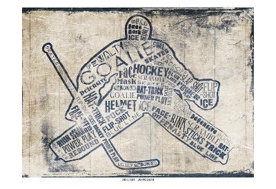Hockey Type-Jace Grey-Art Print