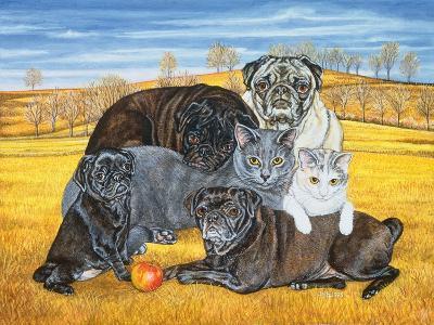 Hocking County Pug-Cats, 1995-Ditz-Giclee Print