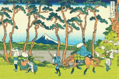 Hodogaya on the Tokaido, c.1830-Katsushika Hokusai-Giclee Print