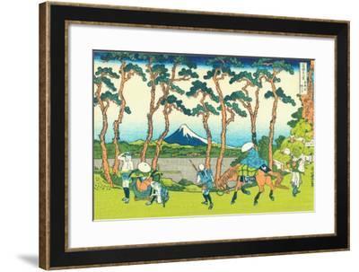 Hodogaya on the Tokaido, c.1830-Katsushika Hokusai-Framed Giclee Print