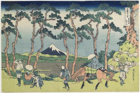 Hodogaya on the Tokaido Road, 1831-1834-Katsushika Hokusai-Giclee Print