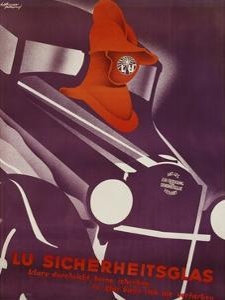 Lu Sicherheitsglas Automotive Safety Glass Poster by Hofbauer Porkorny