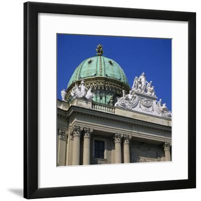 Hofburg Dome, UNESCO World Heritage Site, Vienna, Austria, Europe-Stuart Black-Framed Photographic Print