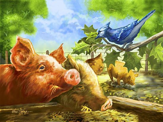 Hog Heaven-Nate Owens-Giclee Print