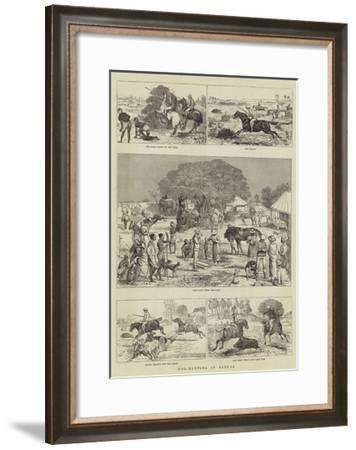 Hog-Hunting in Bengal-Alfred Chantrey Corbould-Framed Giclee Print