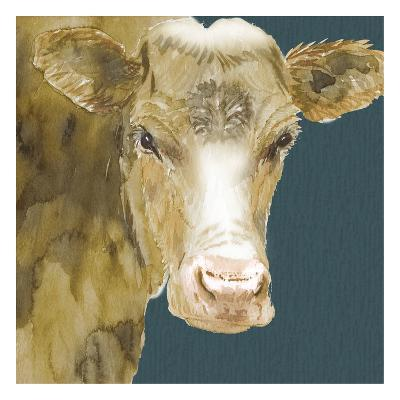 Hogans Brown Cow-Beverly Dyer-Art Print
