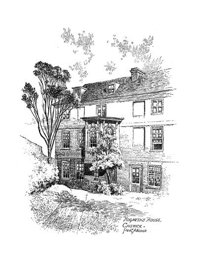 Hogarth's House, Chiswick, 1912-Frederick Adcock-Giclee Print
