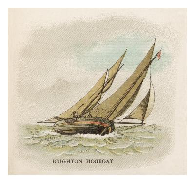 Hogboat Used by the Fishermen of Brighton, Sussex--Giclee Print