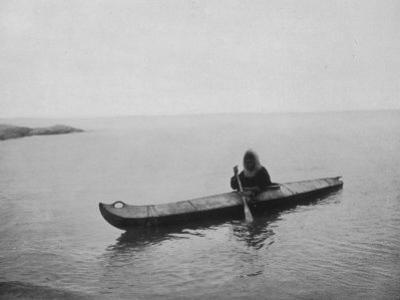 An Eskimo of Alaska in His Kayak by Hogg