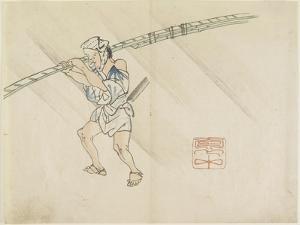 Bamboo Pole Vendor, C. 1830 by Hogyoku