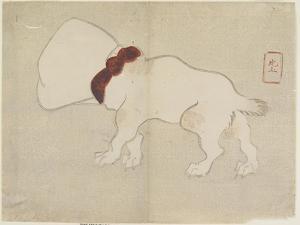 Dog with Bag over its Head, C. 1830 by Hogyoku